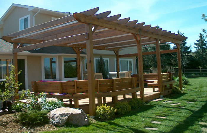Backyard Pergola Plans : Pergolas, Arbors, Trellises